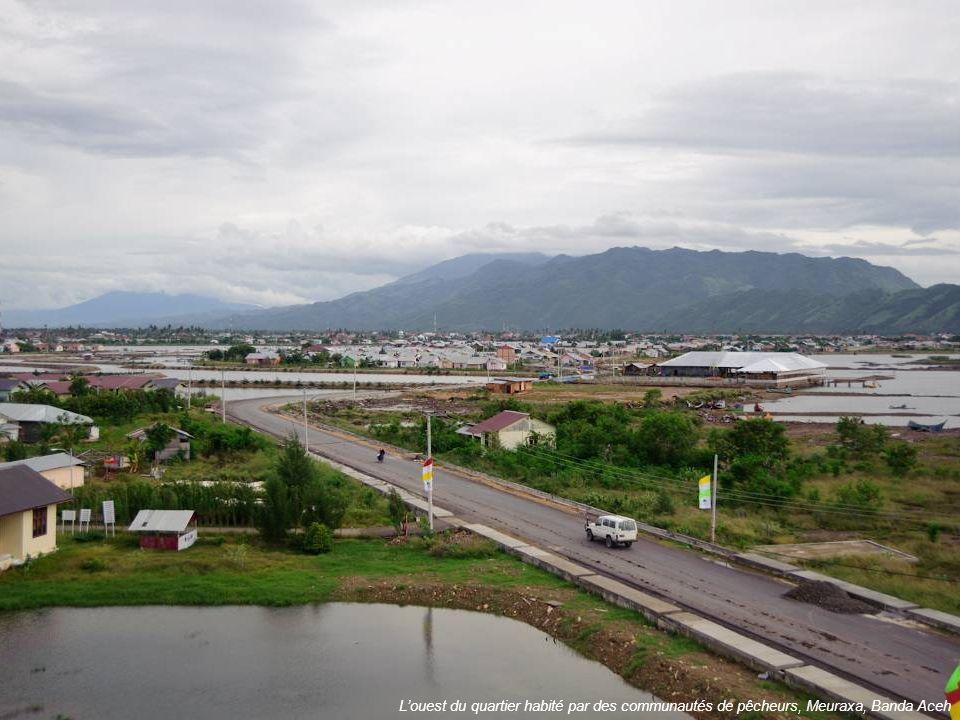 L'ouest du quartier habité par des communautés de pêcheurs, Meuraxa, Banda Aceh