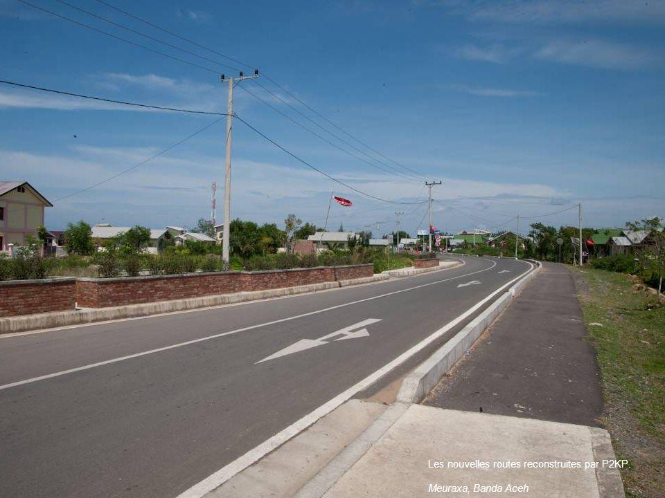 Les nouvelles routes reconstruites par P2KP.