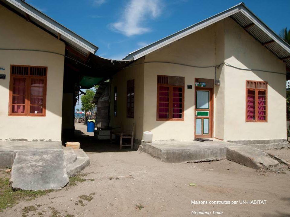 Maisons construites par UN-HABITAT.