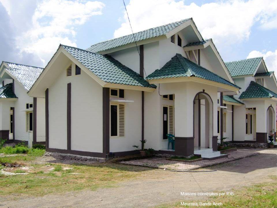 Maisons construites par IDB.