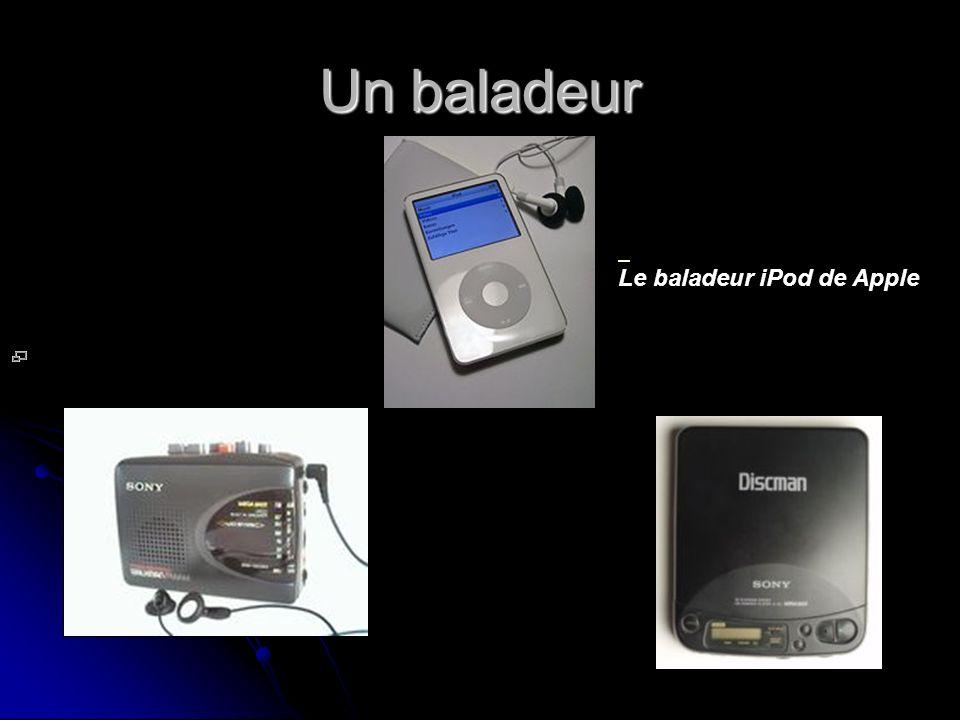 Un baladeur Le baladeur iPod de Apple