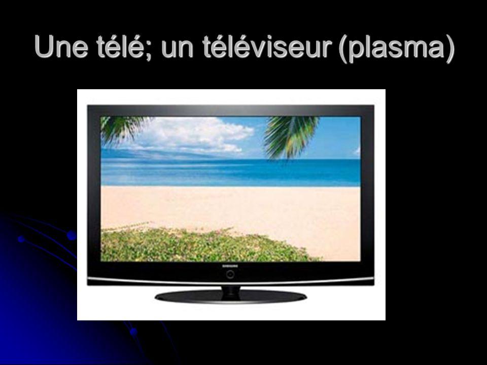 Une télé; un téléviseur (plasma)