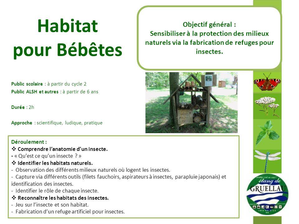 Habitat pour Bébêtes Objectif général :