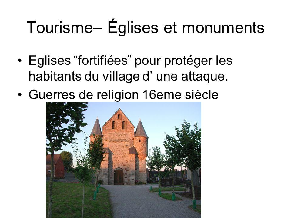 Tourisme– Églises et monuments