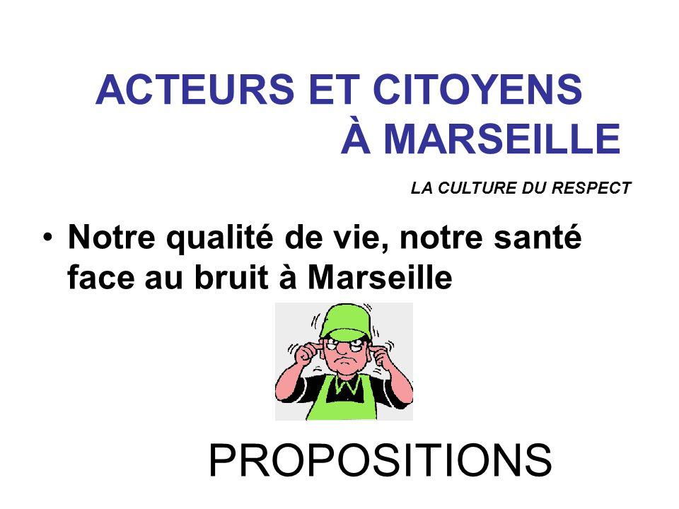 ACTEURS ET CITOYENS À MARSEILLE