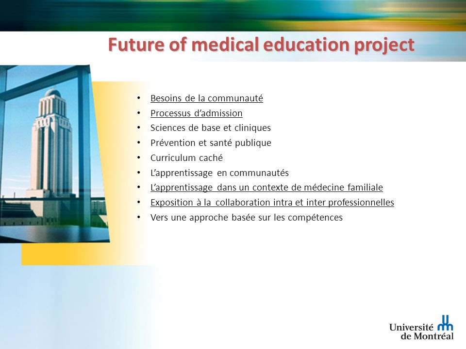 Future of medical education project