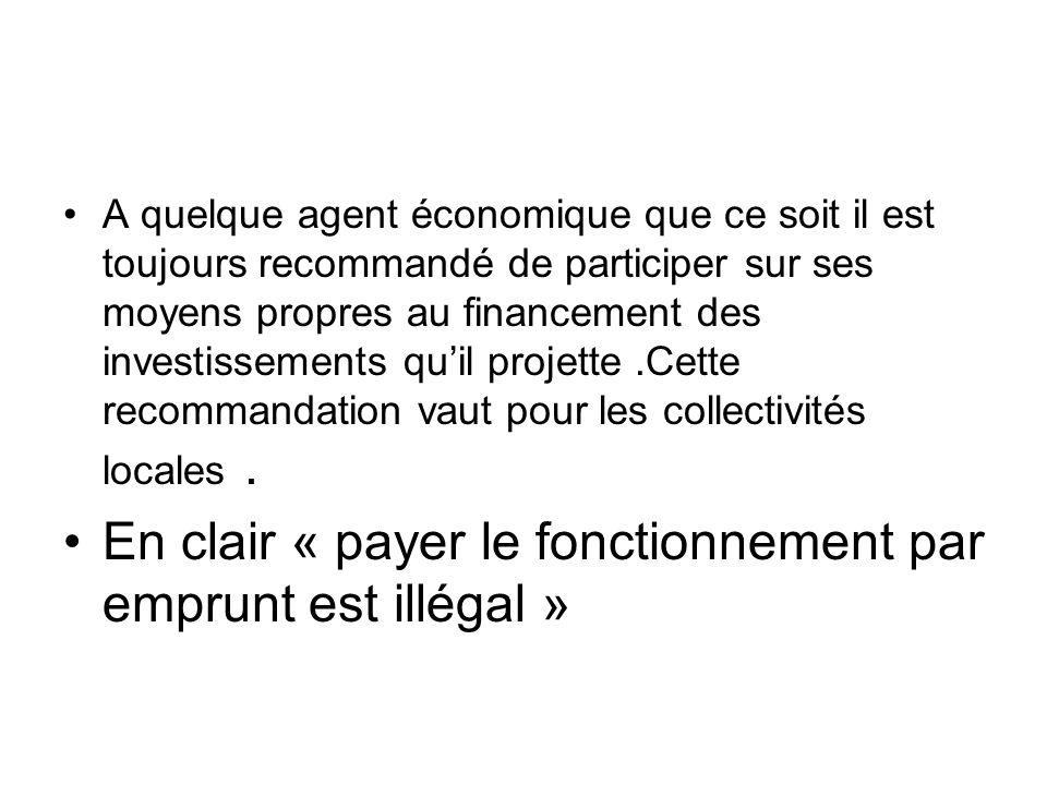 En clair « payer le fonctionnement par emprunt est illégal »