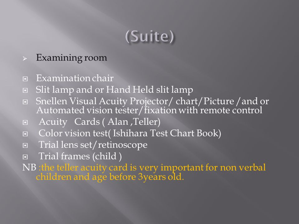 (Suite) Examining room Examination chair