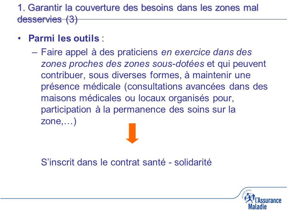 1. Garantir la couverture des besoins dans les zones mal desservies (3)