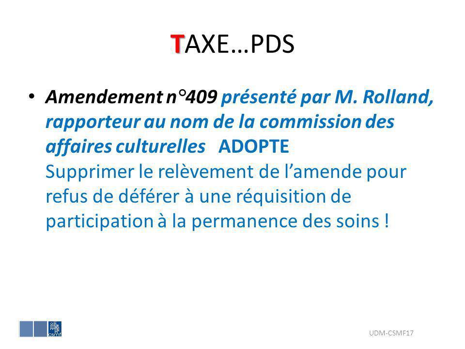 TAXE…PDS