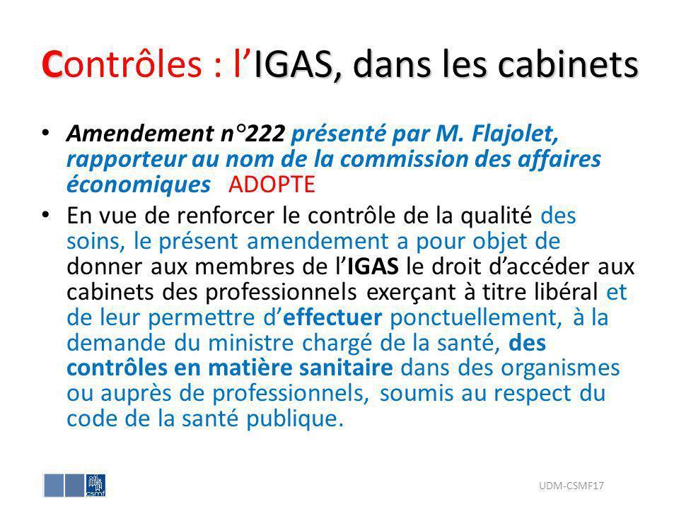 Contrôles : l'IGAS, dans les cabinets