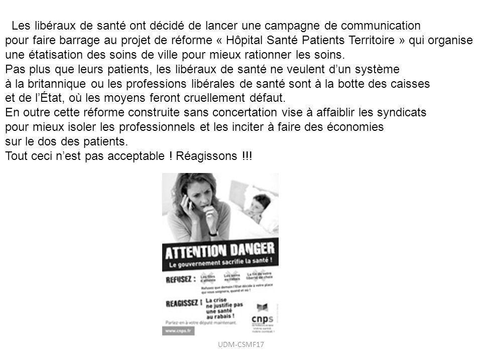 Les libéraux de santé ont décidé de lancer une campagne de communication