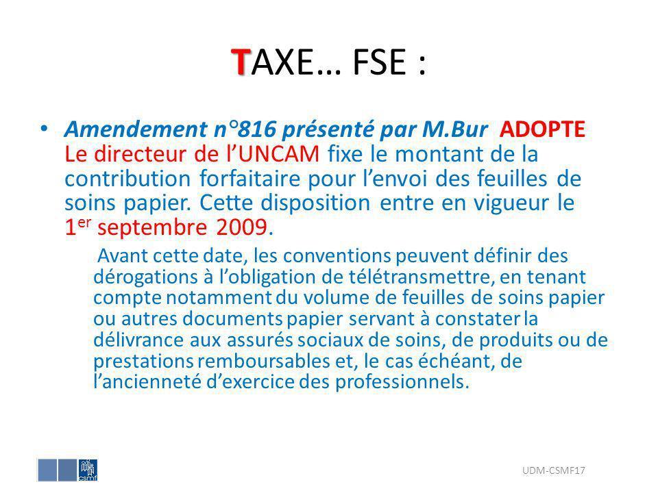 TAXE… FSE :