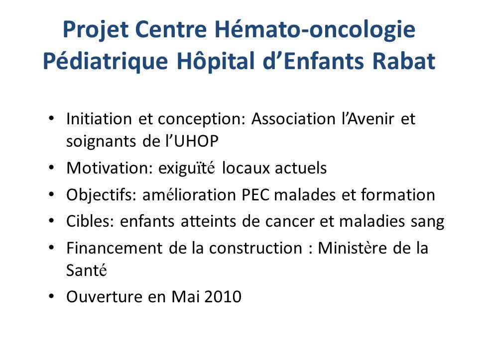 Projet Centre Hémato-oncologie Pédiatrique Hôpital d'Enfants Rabat