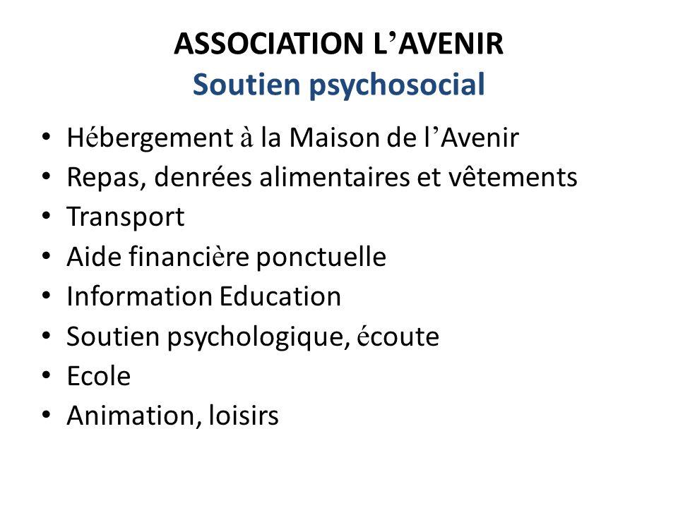 ASSOCIATION L'AVENIR Soutien psychosocial
