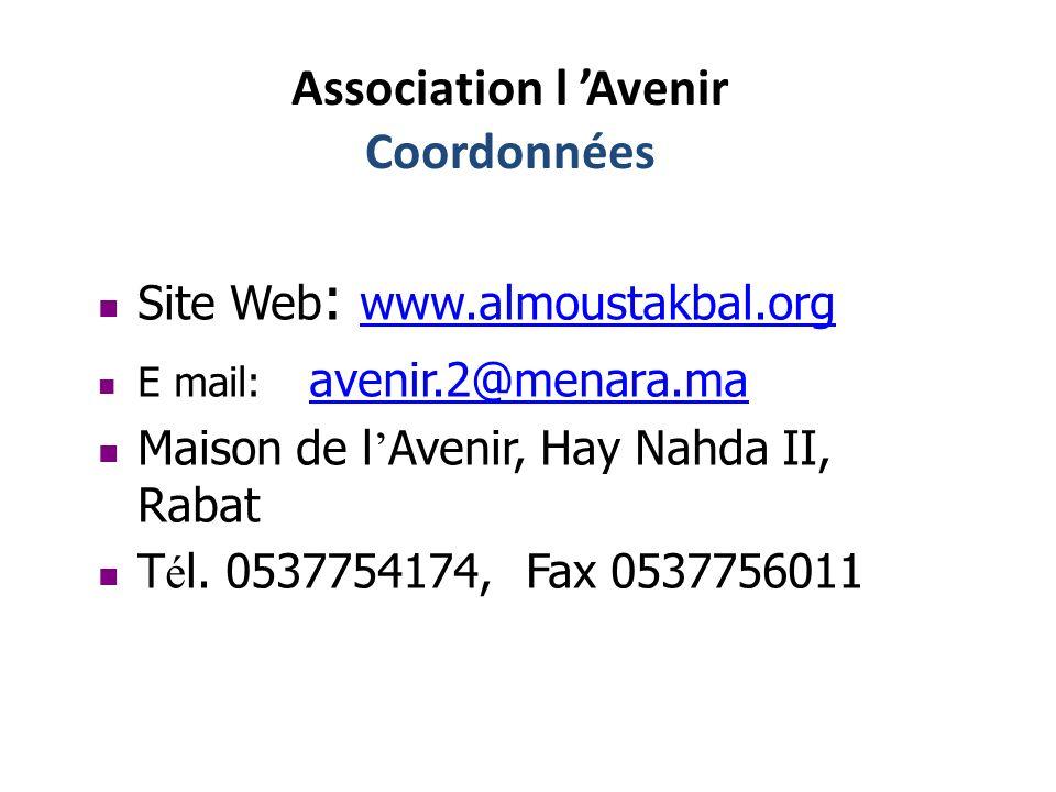 Association l 'Avenir Coordonnées