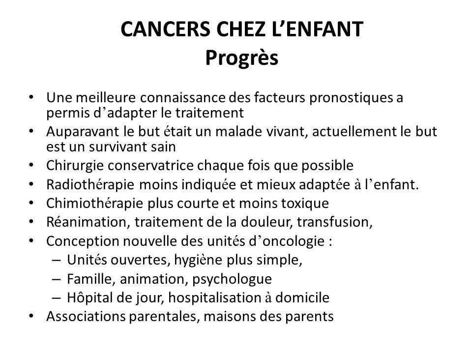 CANCERS CHEZ L'ENFANT Progrès