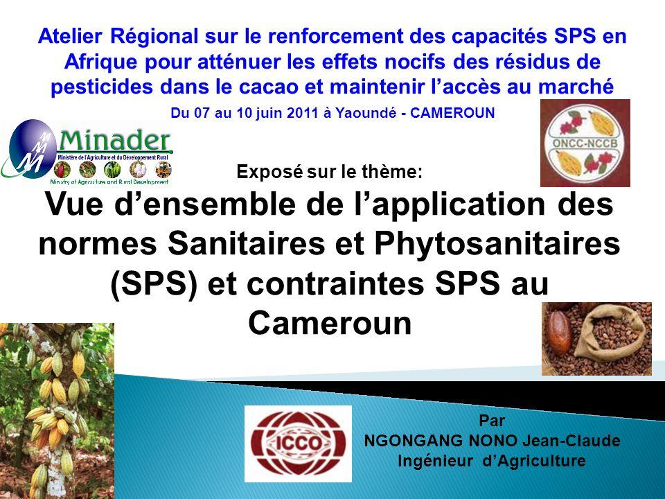Atelier Régional sur le renforcement des capacités SPS en Afrique pour atténuer les effets nocifs des résidus de pesticides dans le cacao et maintenir l'accès au marché