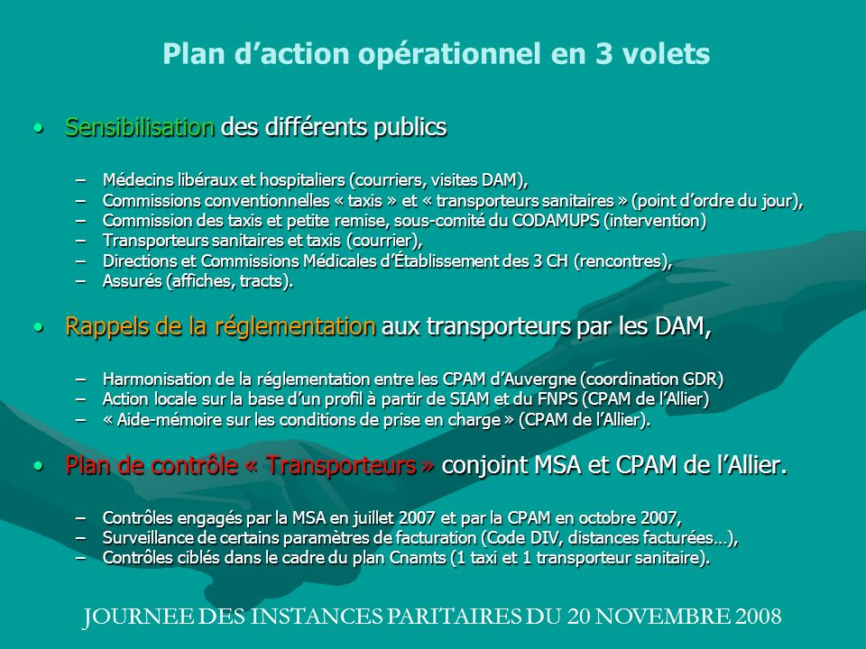 Plan d'action opérationnel en 3 volets