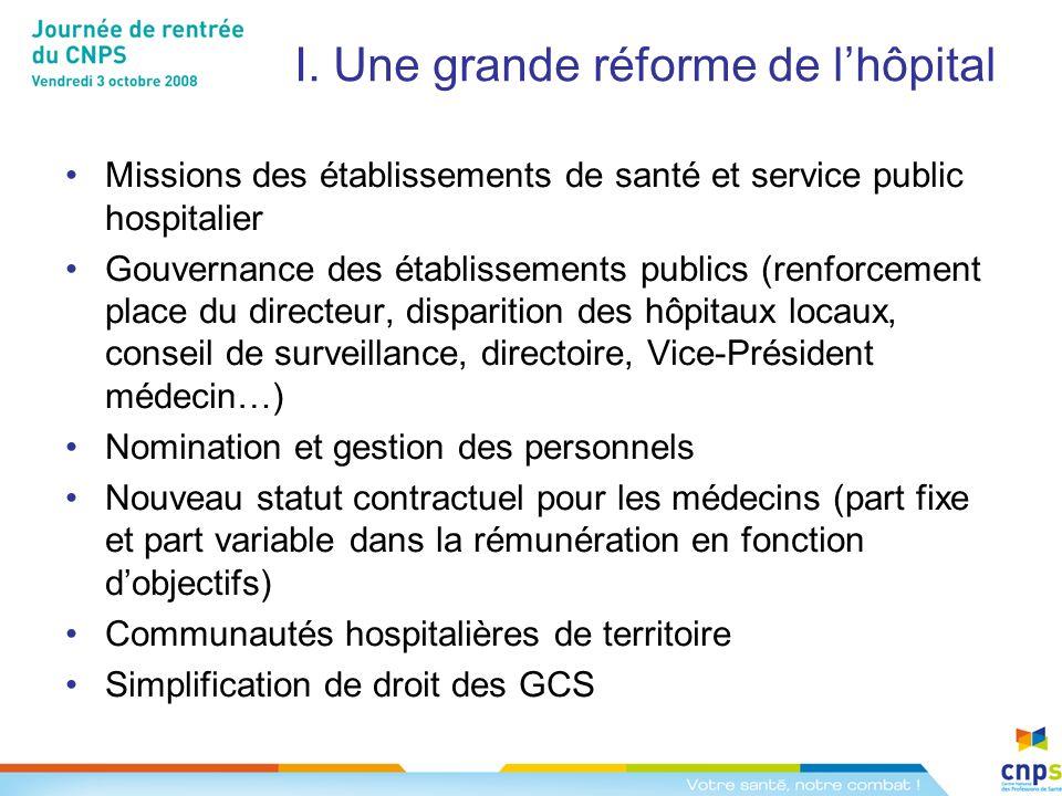 I. Une grande réforme de l'hôpital