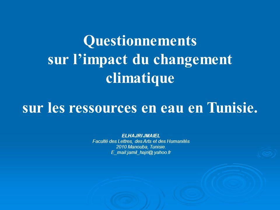 sur l'impact du changement climatique