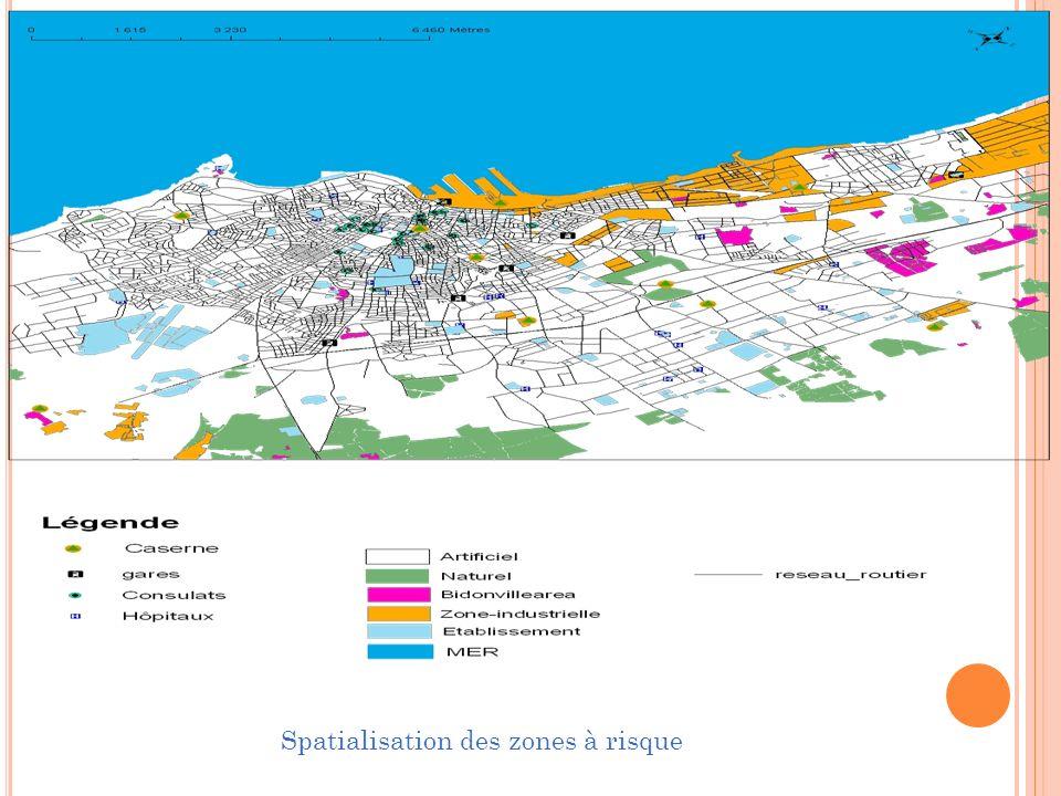 Spatialisation des zones à risque