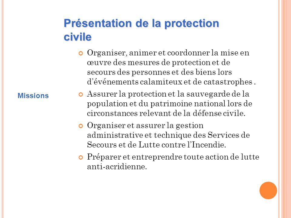Présentation de la protection civile