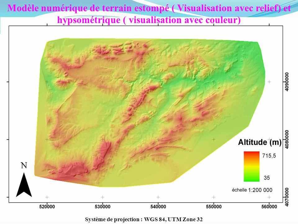 Système de projection : WGS 84, UTM Zone 32
