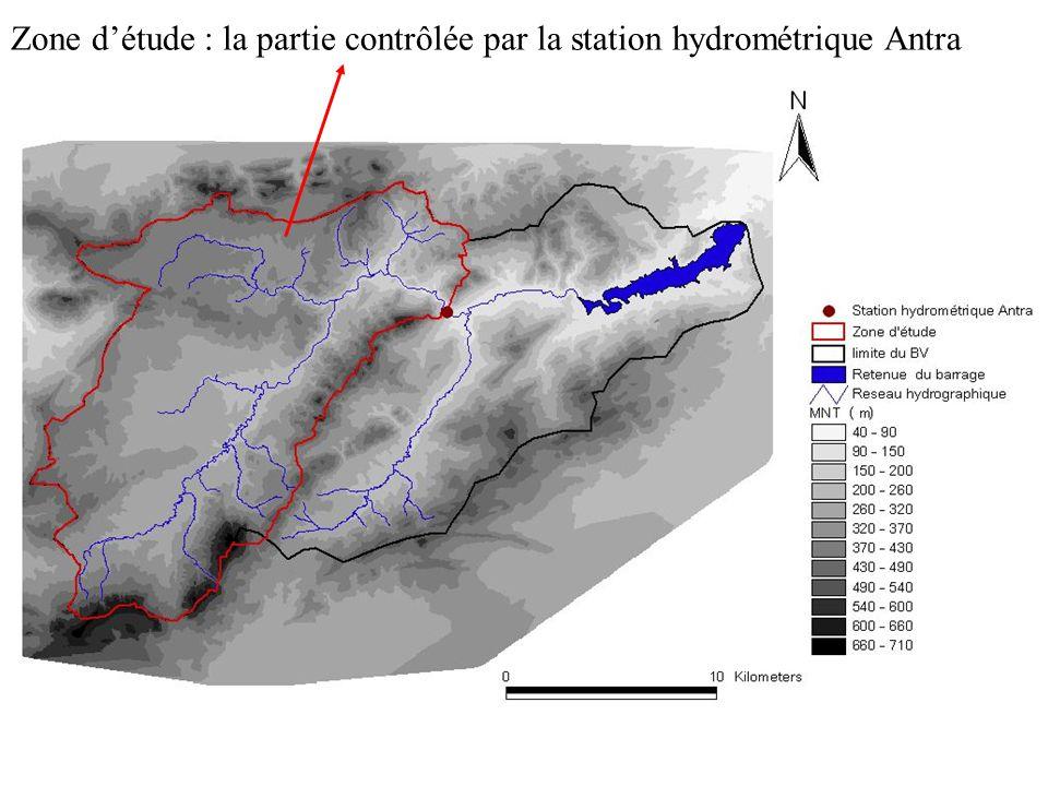 Zone d'étude : la partie contrôlée par la station hydrométrique Antra