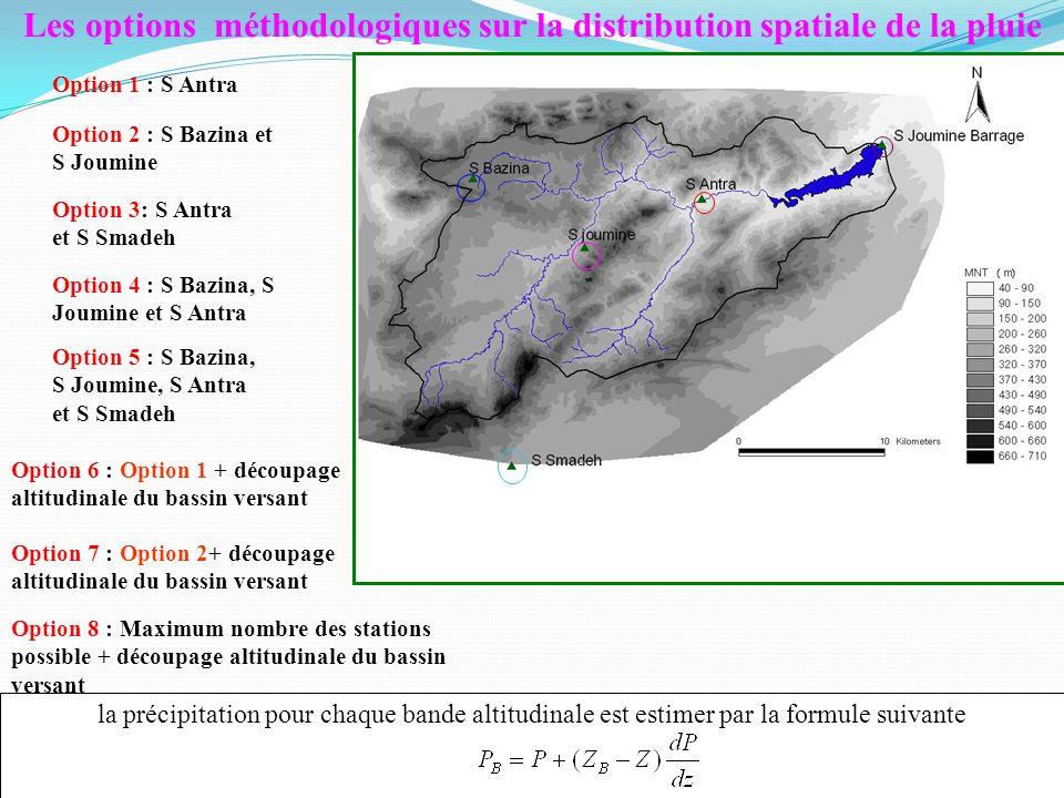 Les options méthodologiques sur la distribution spatiale de la pluie