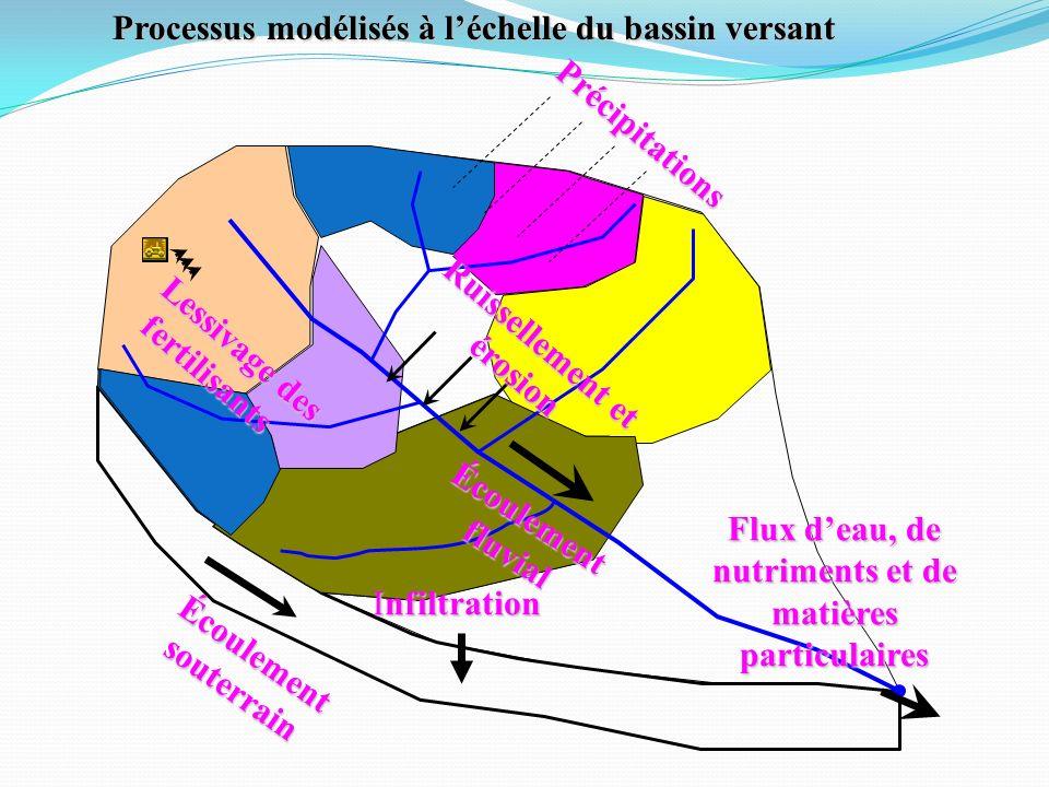 Processus modélisés à l'échelle du bassin versant