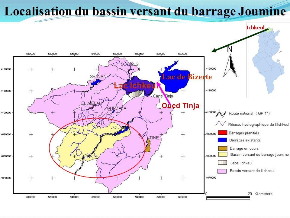 Localisation du bassin versant du barrage Joumine