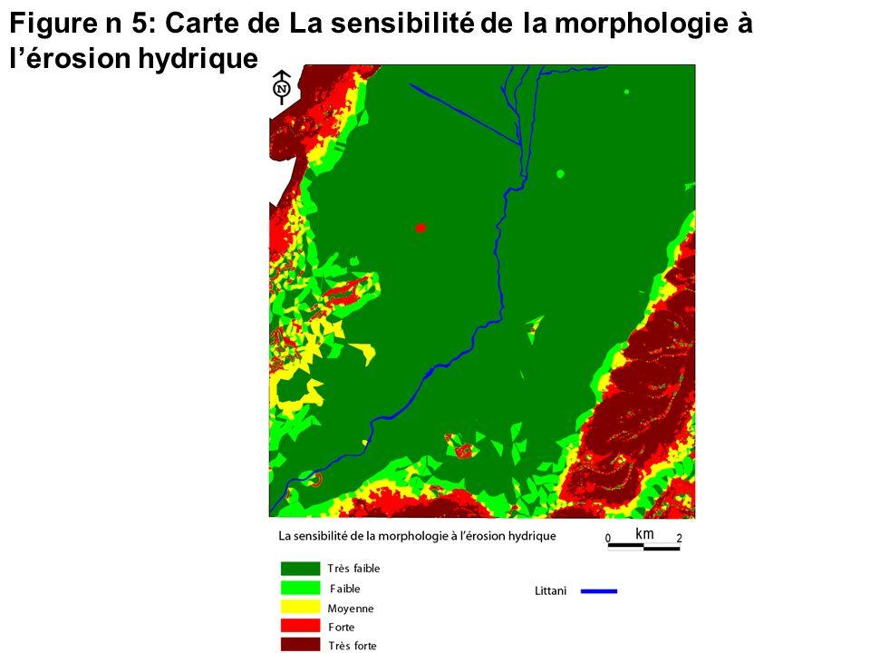 Figure n 5: Carte de La sensibilité de la morphologie à l'érosion hydrique