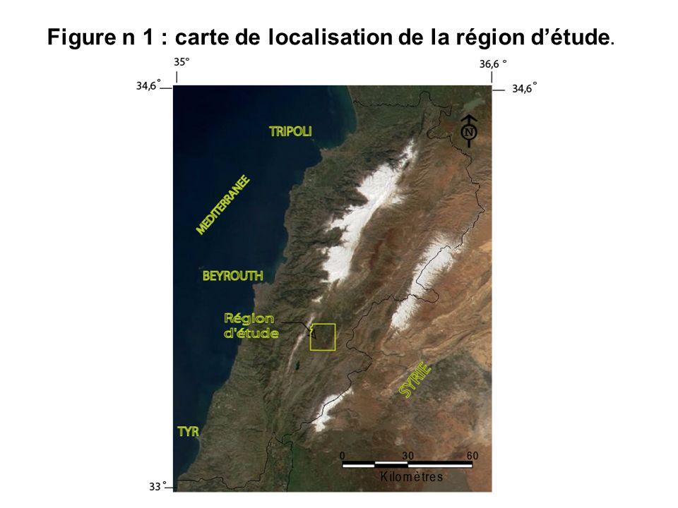 Figure n 1 : carte de localisation de la région d'étude.