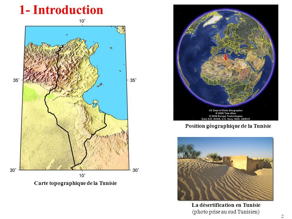 1- Introduction Position géographique de la Tunisie