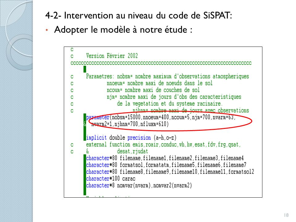 4-2- Intervention au niveau du code de SiSPAT: