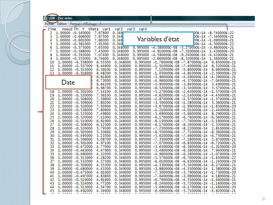 Variables d'état Date