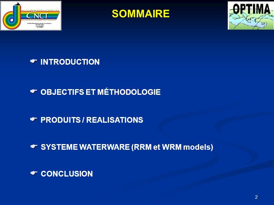 SOMMAIRE  INTRODUCTION  OBJECTIFS ET MÉTHODOLOGIE