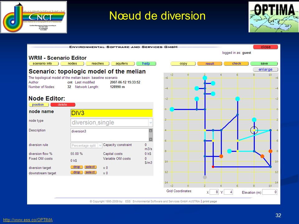 Nœud de diversion http://www.ess.co/OPTIMA