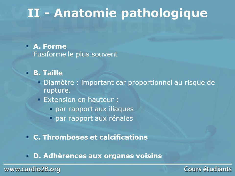 II - Anatomie pathologique