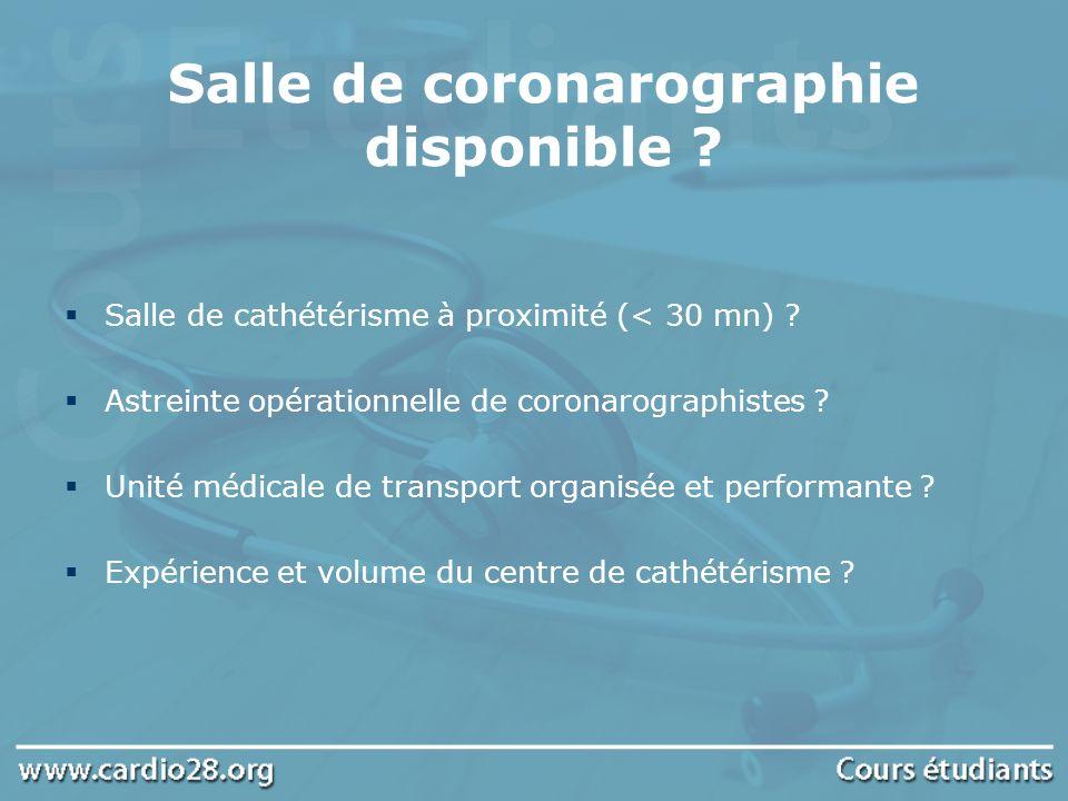 Salle de coronarographie disponible