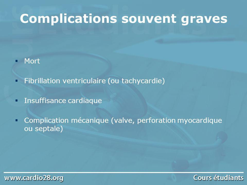 Complications souvent graves