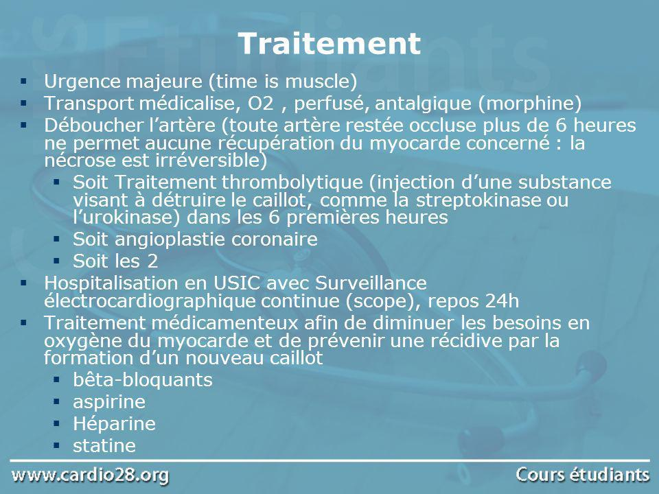 Traitement Urgence majeure (time is muscle)