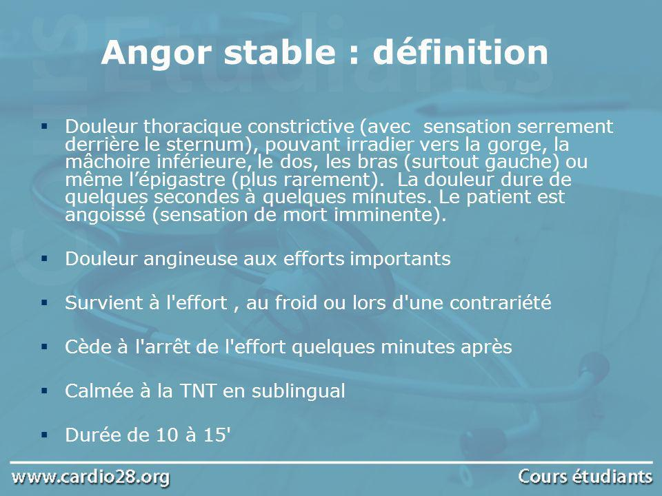 Angor stable : définition