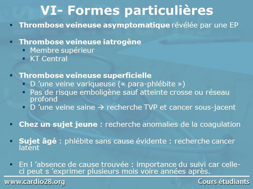 VI- Formes particulières