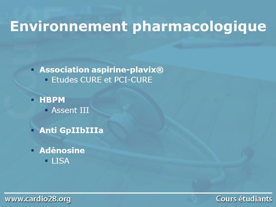 Environnement pharmacologique