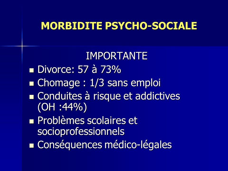 MORBIDITE PSYCHO-SOCIALE