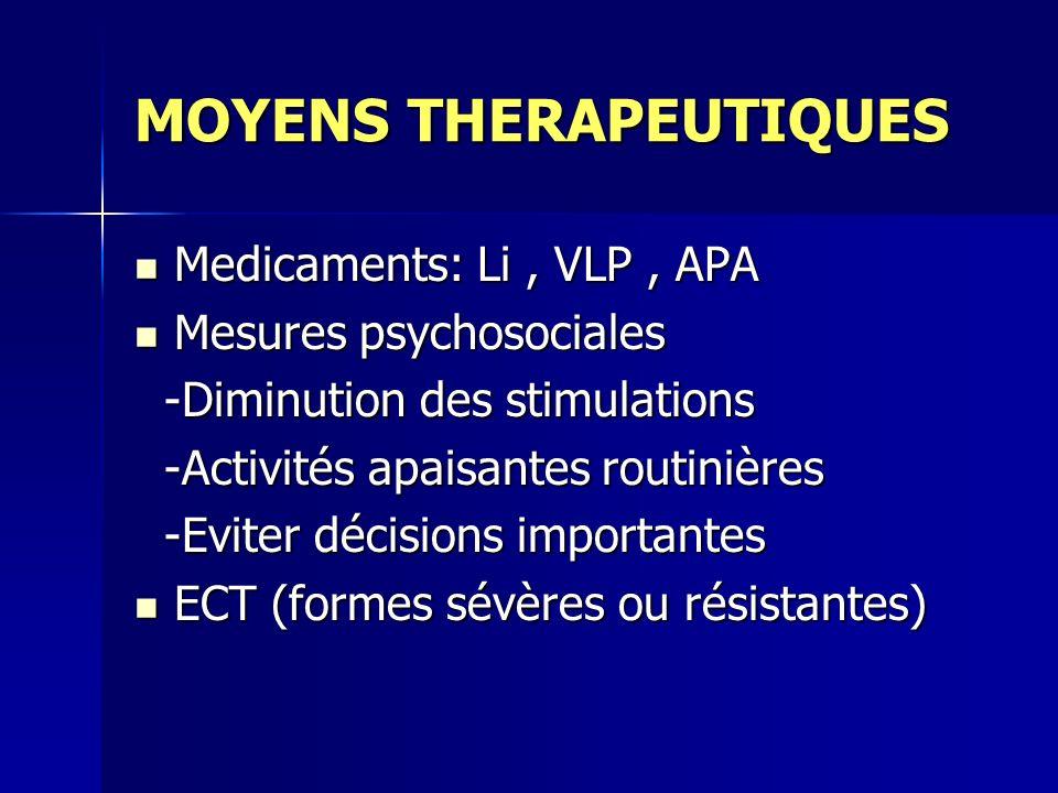 MOYENS THERAPEUTIQUES