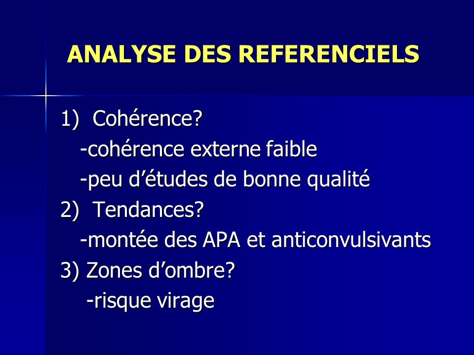 ANALYSE DES REFERENCIELS