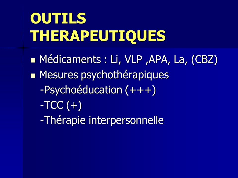 OUTILS THERAPEUTIQUES